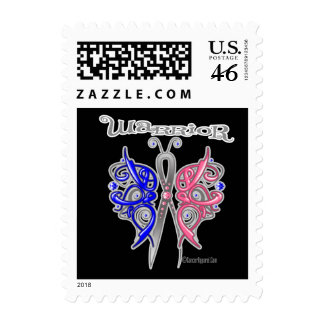 Warrior Celtic Butterfly - Male Breast Cancer Postage Stamp