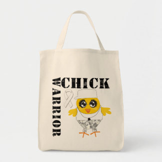 Warrior Chick Lung Cancer Canvas Bag