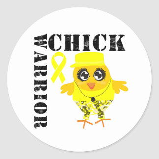 Warrior Chick Sarcoma Classic Round Sticker