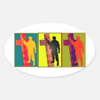 Warrior Cross #2 Oval Sticker