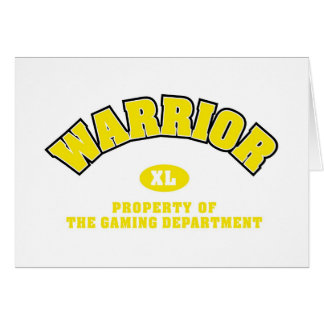 Warrior Department Card