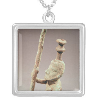 Warrior, Dong-son Civilisation, from Vietnam Silver Plated Necklace