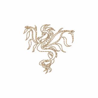 warrior dragon polo shirt