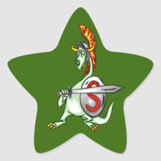 Warrior Dragon Star Sticker