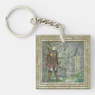 Warrior Elf Guarding The Steeple Keychain