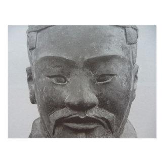 warrior face xi'an postcard