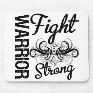 Warrior Fight Strong Bone Cancer Mouse Pad