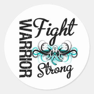Warrior Fight Strong Cervical Cancer Sticker