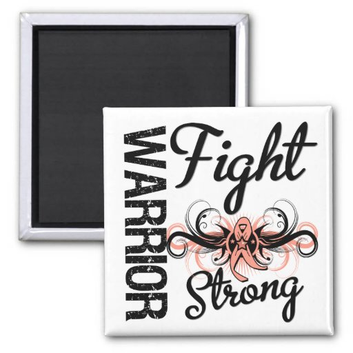 Warrior Fight Strong Endometrial Cancer Magnet