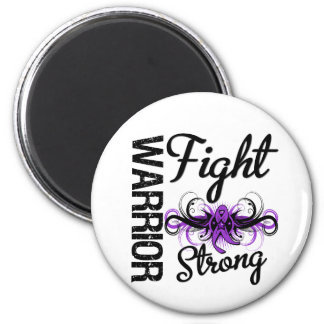 Warrior Fight Strong GIST Cancer 2 Inch Round Magnet