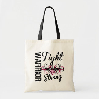 Warrior Fight Strong Head and Neck Cancer Canvas Bags