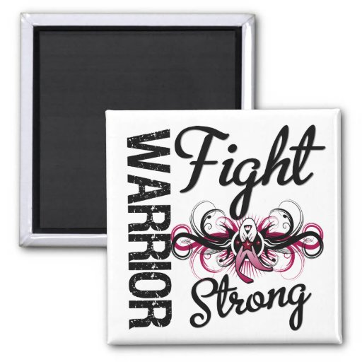 Warrior Fight Strong Head and Neck Cancer Fridge Magnets