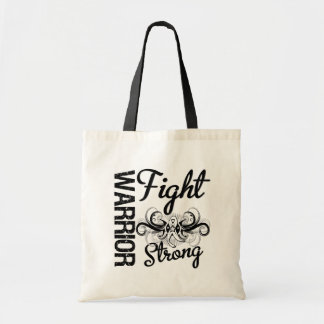 Warrior Fight Strong Lung Cancer Canvas Bags