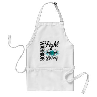 Warrior Fight Strong Ovarian Cancer Adult Apron