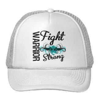 Warrior Fight Strong Ovarian Cancer Trucker Hat