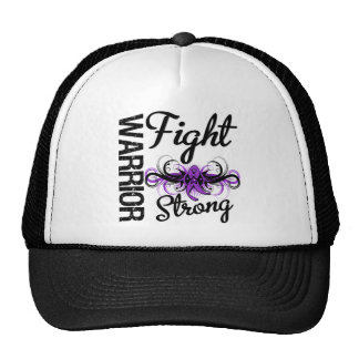 Warrior Fight Strong Pancreatic Cancer Hats