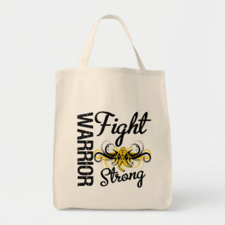 Warrior Fight Strong Sarcoma Cancer Tote Bag