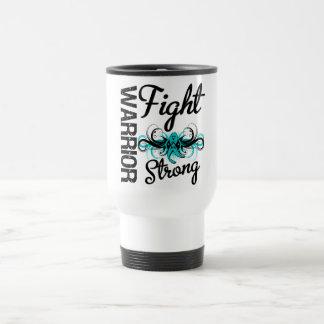 Warrior Fight Strong Tourette Syndrome 15 Oz Stainless Steel Travel Mug
