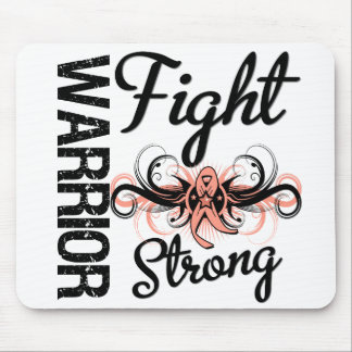 Warrior Fight Strong Uterine Cancer Mouse Pad