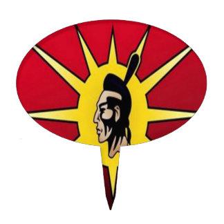 Warrior flag cake pick
