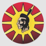 Warrior Flag Classic Round Sticker