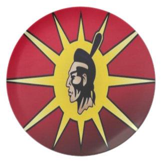 warrior flag plates