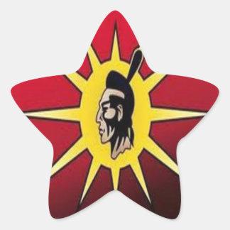 warrior flag stickers-first nationa star sticker