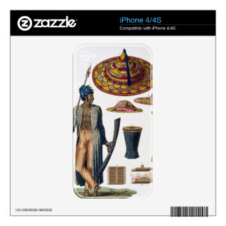 Warrior from Island of Guebe with items of Native Decal For iPhone 4