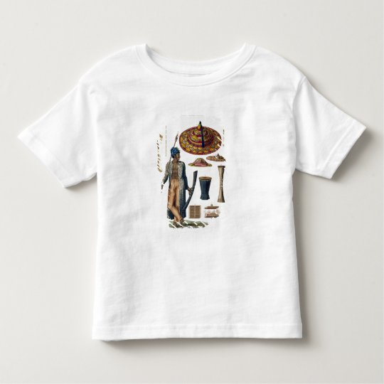 Warrior from Island of Guebe with items of Native Toddler T-shirt