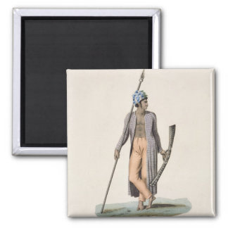 Warrior from the Island of Guebe, from 'Voyage aut 2 Inch Square Magnet