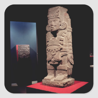 Warrior, from the Toltec Culture Square Sticker