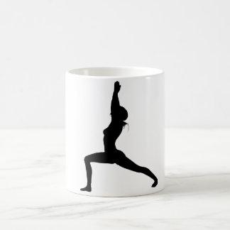 Warrior I Yoga Pose in Silhouette Coffee Mug