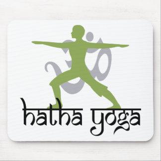 Warrior II Pose Hatha Yoga Mouse Pad