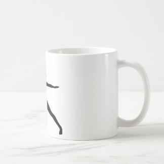 Warrior II Yoga Pose Silhouette Coffee Mug