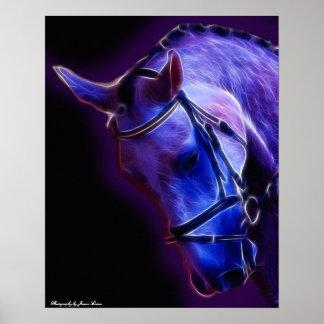 Warrior in Purple Poster