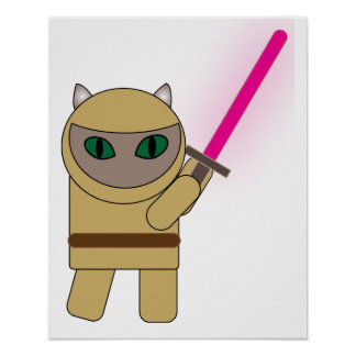 Warrior Kitty Cat Poster