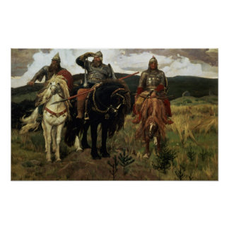 Warrior Knights, 1881-98 Poster