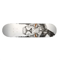 Warrior lion skateboard deck