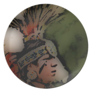 'Warrior Looks to the Distant Horizon' Dinner Plate