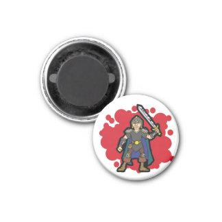 Warrior 1 Inch Round Magnet