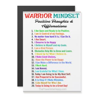 WARRIOR MINDSET MAGNETIC CARD