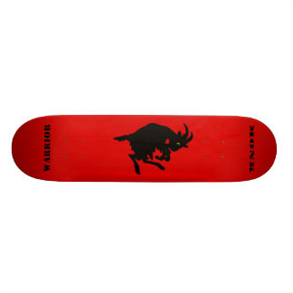 Warrior Monk Red Goat Skateboard