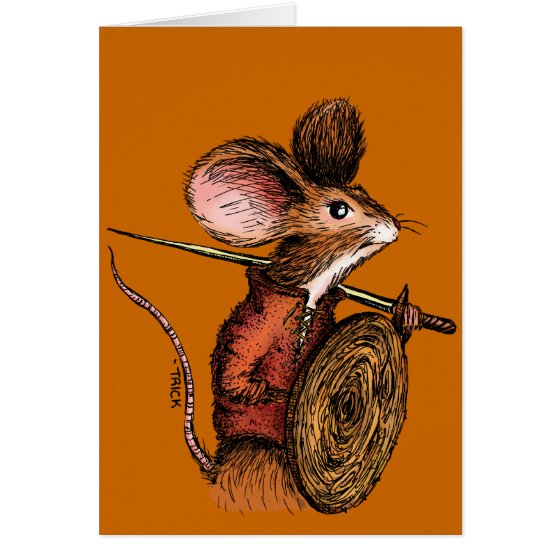 Warrior Mouse Greeting Card