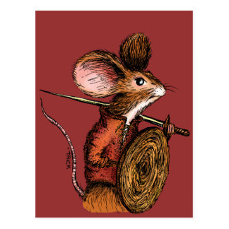 Warrior Mouse Postcard