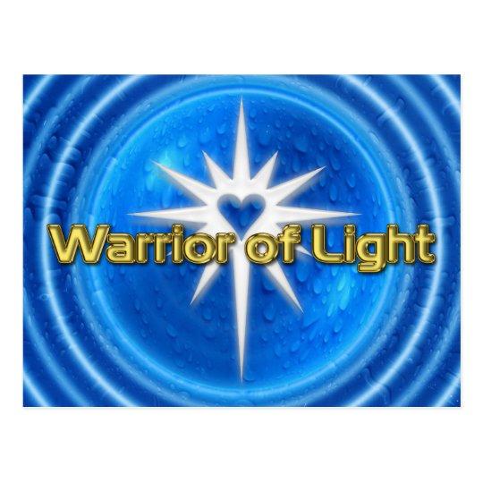 WARRIOR OF LIGHT - blue water Postcard