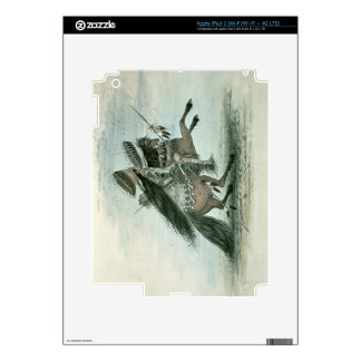 Warrior of the Crow Tribe (w/c on paper) Decal For iPad 3