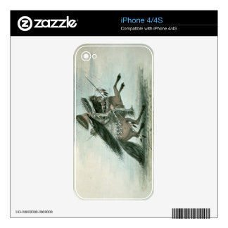 Warrior of the Crow Tribe (w/c on paper) Decals For iPhone 4
