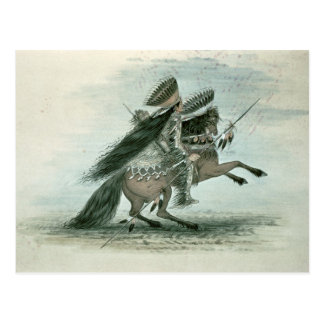 Warrior of the Crow Tribe (w/c on paper) Postcard