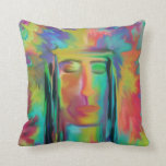 Warrior Of The Rainbow Digital Painting Pillows