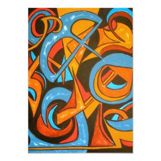 Warrior One Yogi - Abstract Art Card